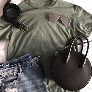 Tops - Muted Green Tee